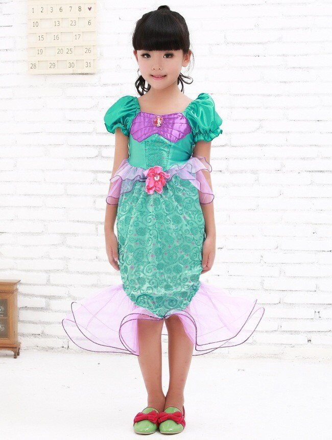 kids Mermaid Tail Princess Cosplay Costume Halloween Costumes For Children Games Uniforms Girl Beach Swimsuit