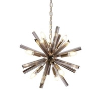 nordic post modern crystal pendant light glass dia 50cm 65cm 12pcs e14 lamp creative personality living room lamp free shipping