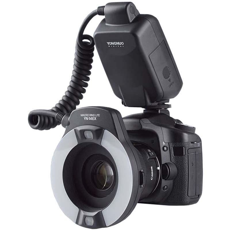 Yongnuo TTL Macro anillo Flash iluminación YN-14EX para cámaras Canon como MR-14EX