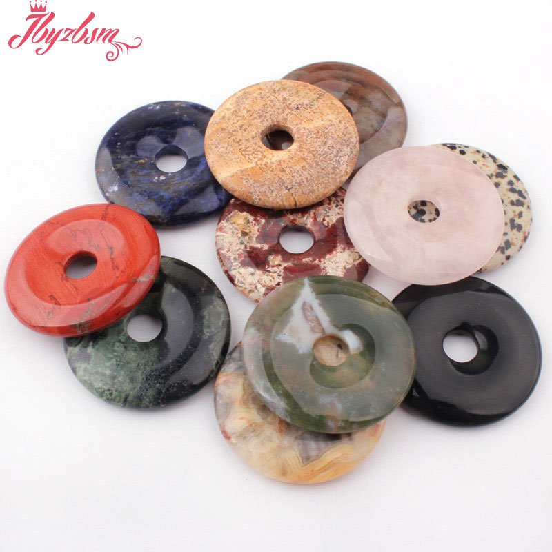 Круглые шарики из натурального гладкого пончика, 40 мм, 1 шт., для самостоятельного изготовления ожерелий, ювелирных изделий, опт, бесплатная доставка