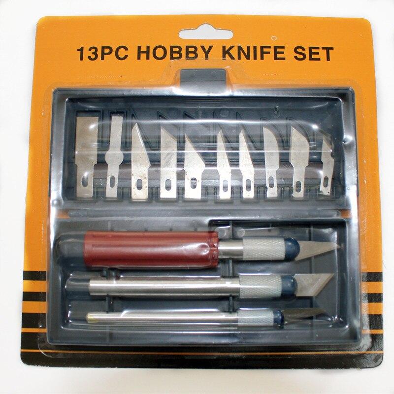 Nuevo juego de cuchillas de afeitar de afición ABEST KIT de corte modelo de cuchillo de precisión PN-13