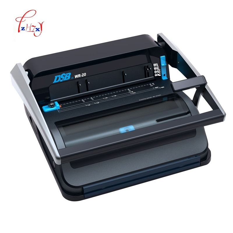 A4 دليل سلك آلة تجليد الكتاب الورقي الموثق آلة كتيب صانع مكتب واللوازم المدرسية و المنزلية WR-20 1 قطعة