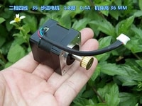 two phase four wire 35 stepper motor 1 8 degree 0 4a body height 36 mm double ball bearing