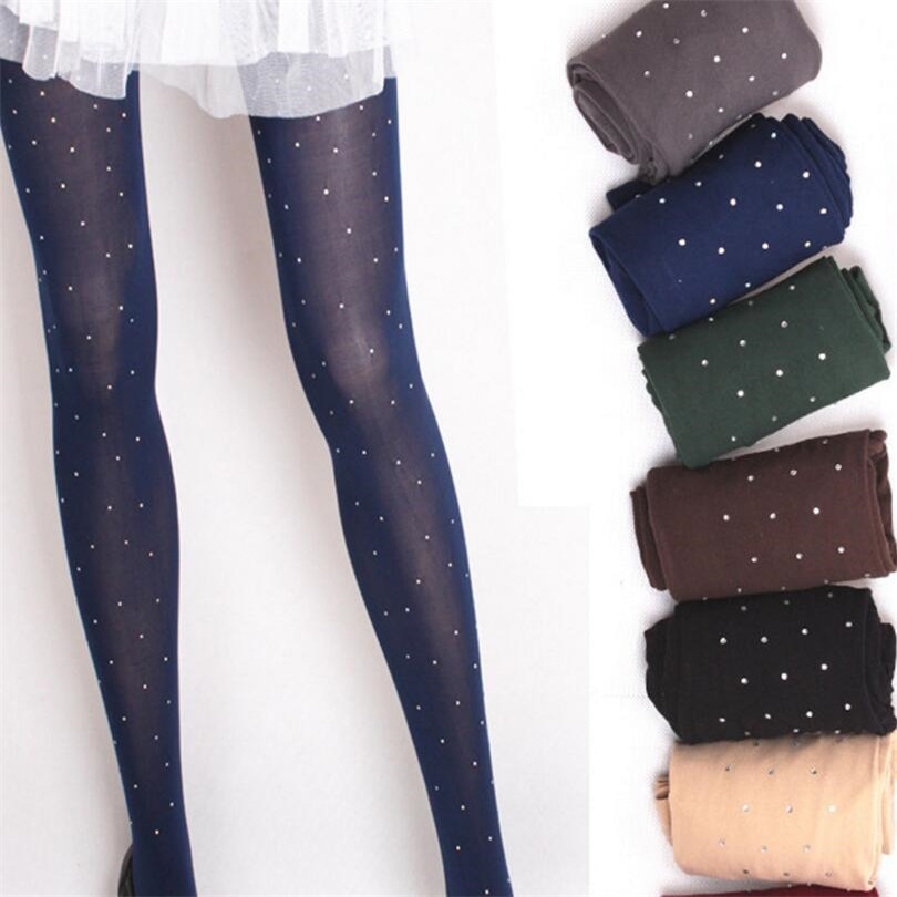 Black Stockings Sexy Tights Summer Fashion Women Thin Bling Crystal Shiny Rhinestone Pantyhose High Elasticity