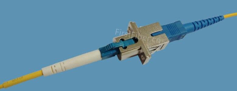 Adaptadores híbridos FirstFiber SC hembra-LC hembra conector óptico de fibra forma rectangular, tubo interno de zirconia
