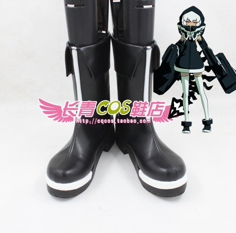Black Rock Shooter Сила обувь для маскарада сапоги на заказ 5085
