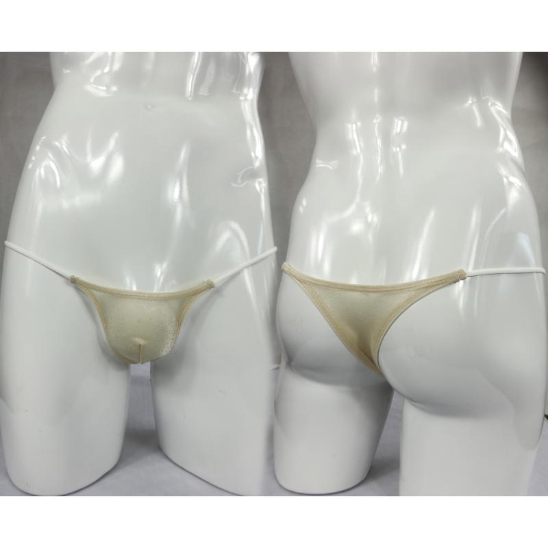 Estilo japonés mini pequeño bikini briefs Tanga brillante hilo brillante transparente y sensual bragas