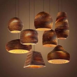 Paper chandelier Kitchen Bar Dining room Restaurant honeycomb pendant lamp Loft Industrial Vintage Decor Chandelier Lamp Fixture