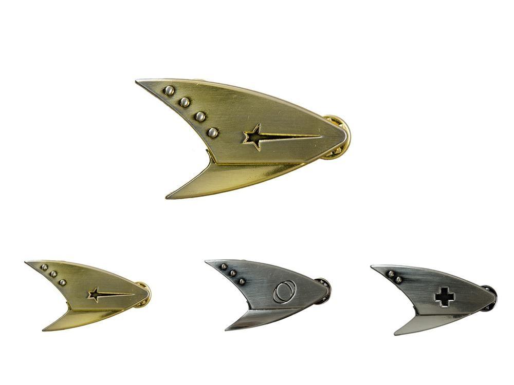 Star Cosplay Trek Badge Pip Pin Insignia Brooch Command Badge Medical Badge Science Badge Metal Collection Gift