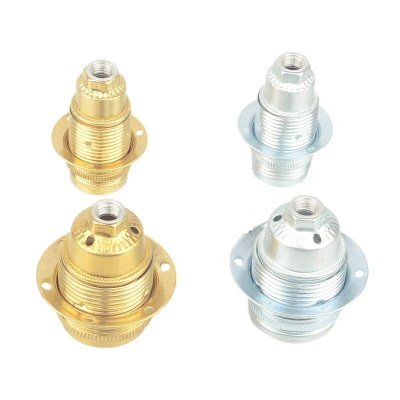 IWHD portalámparas E27 portalámparas AC110-220V Base portalámparas metálico de aluminio montaje en doble tubo E27