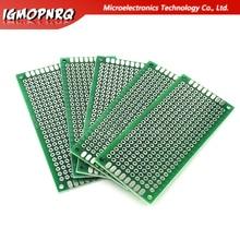 5 pièces 3x7cm 3*7 Double côté Prototype PCB bricolage universel carte de Circuit imprimé épaisseur 1.6 plaque de trou panneau expérimental