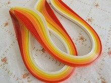 100 unids quilling papel 7mm x 39 cm/PCS mezclado 5 gradiente colores colorido DIY estrella amor envío libre material de papel