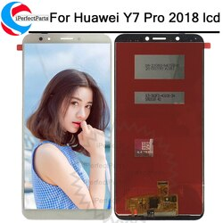 "5.99 ""Para Huawei LDN-LX2 LDN-L22 Y7 Pro LCD Full Screen DIsplay Toque Digitador Assembléia Para Huawei Y7 Prime 2018 LDN-LX1 LDN-L21"