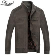 LOMAIYI hommes veste dhiver hommes pur coton col montant manteau mâle polaire doublure vestes hommes printemps décontracté survêtement BM290