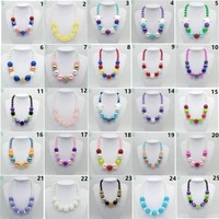 wholesale 10pcs lot latest princess chunky necklace kids girls bubble bead necklace for diy jewelry