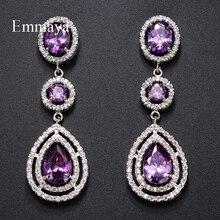 Emmaya Brand Charm Luxury AAA Cubic Zircon Water Drop Shape Earrings for Women Fashion Wedding Birthday Jewelry Party Gift