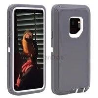 Casing Penutup Pelindung Combo Samsung S20 S10 Note10 Galaxy S9   S9 Plus S7 Edge S7 Baja Hybrid Tahan Benturan PC dan TPU