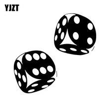 YJZT 13.4*13CM ilginç araba etiket Casino Poker zar yüksek kalite dekorasyon vinil grafik C12-0060