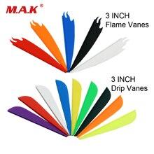 3 pouces 60 pièces plastique flèche Vanes flamme/goutte à goutte plume bricolage flèche accessoire pour tir à larc en plein air chasse tir