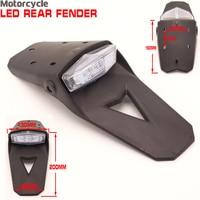 LED Motorcycle Tail Light Universal Enduro Trial Dirt Bike 12V Stop Brake Light Rear Fender Taillamp Clear