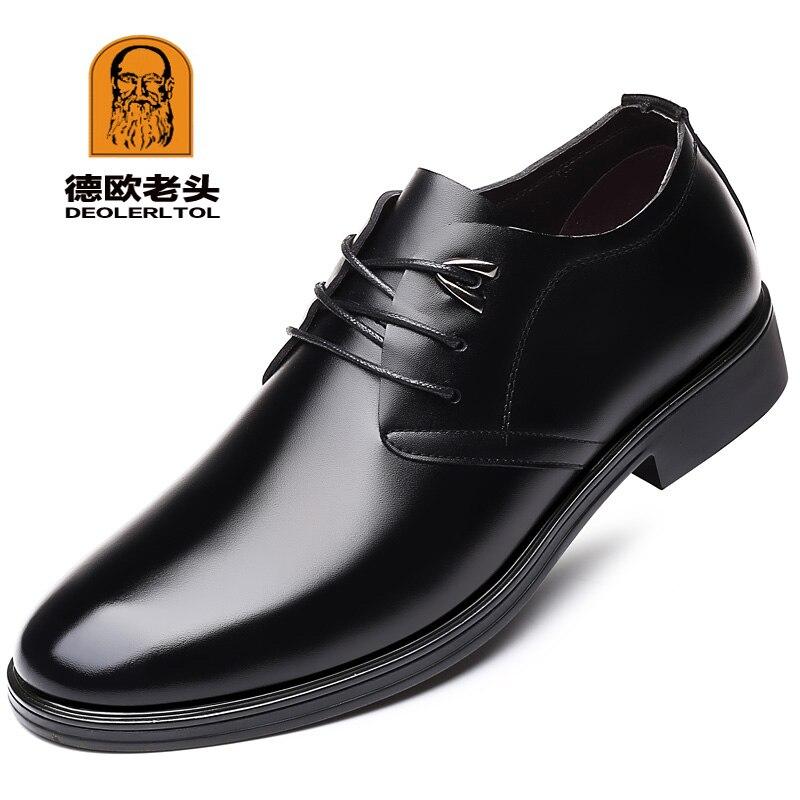 2020 nuevos zapatos de cuero de vaca de calidad para Hombre Zapatos de vestir suaves para Hombre Tallas Extra 45 46 47 zapatos de cuero con puntera dividida para hombre