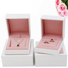 Nowy minimalistyczny styl pudełko z biżuterią, małżeństwo diamentowy pierścionek pudełko, para pudełko na pierścionek, naszyjnik bransoletka pudełko