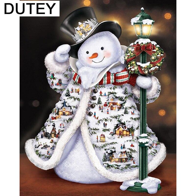 5D diamond painting DIY diamond embroidery Christmas snowman Cross Stitch Rhinestone mosaic home decoration_hcr