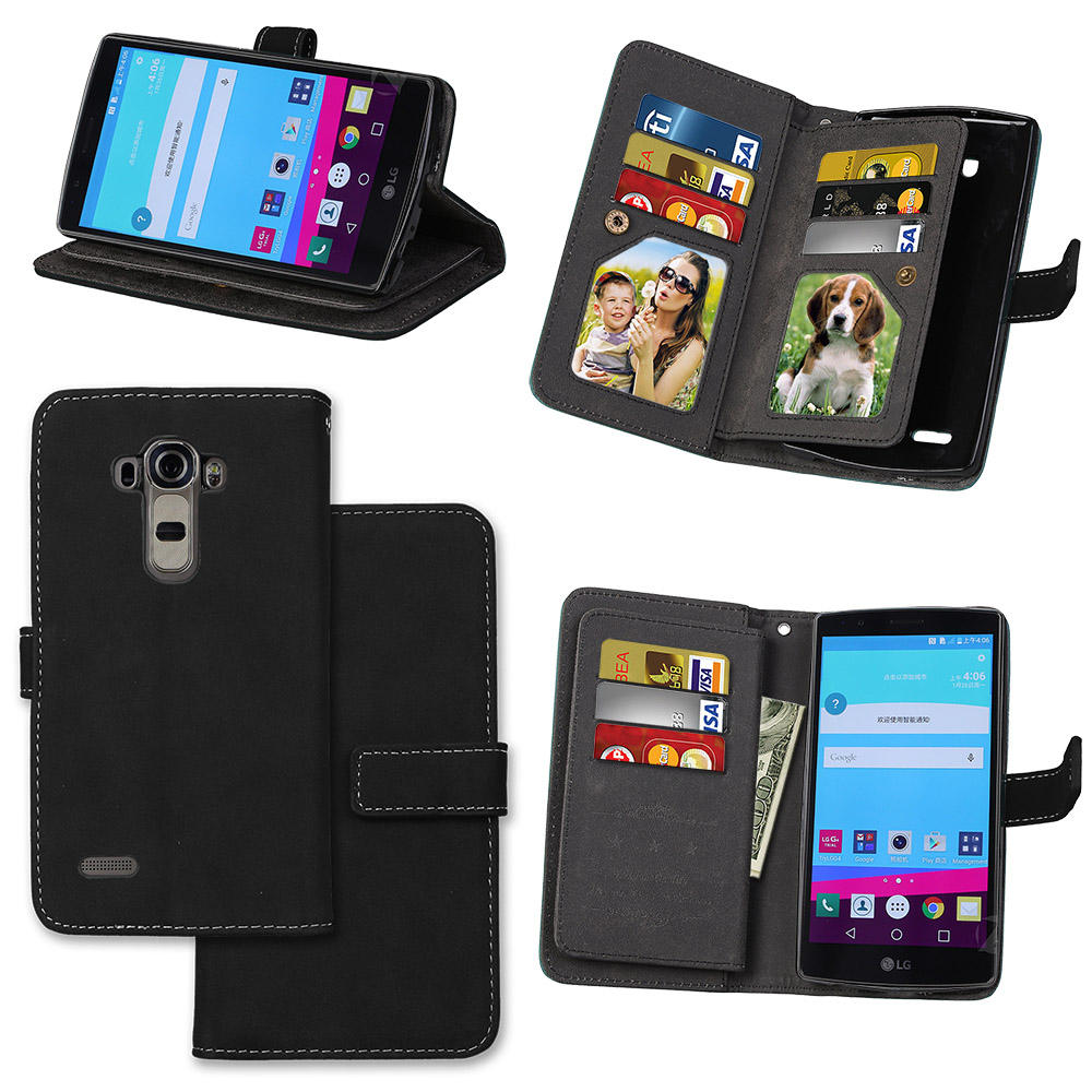 Coque lg g 4 lg G4 cuero cartera Flip caso de escudo cubierta completa para lg g 4 H815 H818 silicona para teléfono celular Fundas para lg g 4