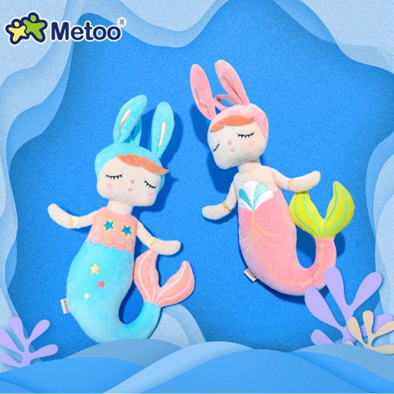 Metoo Puppe Weiche Plüsch Spielzeug Stofftiere Für Mädchen Baby Nette Cartoon Angela Meerjungfrau Für Kinder Jungen Weihnachten Geburtstag Geschenke