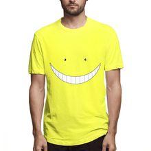 Unisex Koro sonrisa asasasination Classroom camiseta verano puro algodón S-6XL tamaño grande Homme camiseta