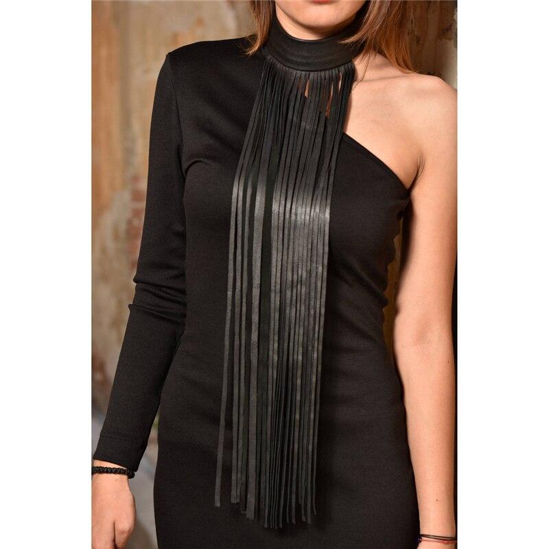YD & YDBZ новое длинное ожерелье с кисточками женские кожаные ожерелья 6 цветов модные уличные ювелирные изделия жгут шеи чокер Готический стиль
