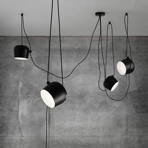 Black White replica pendant lamp  Coffee Bar Kitchen Restaurant lampe salon lustre suspension Industrial Loft vintage chandelier