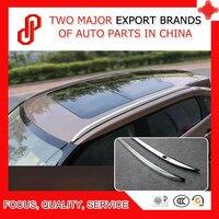 1 Pair Aluminium alloy screw or sticker install Silver color side rail bar roof rack for UR-V URV 2017 2018