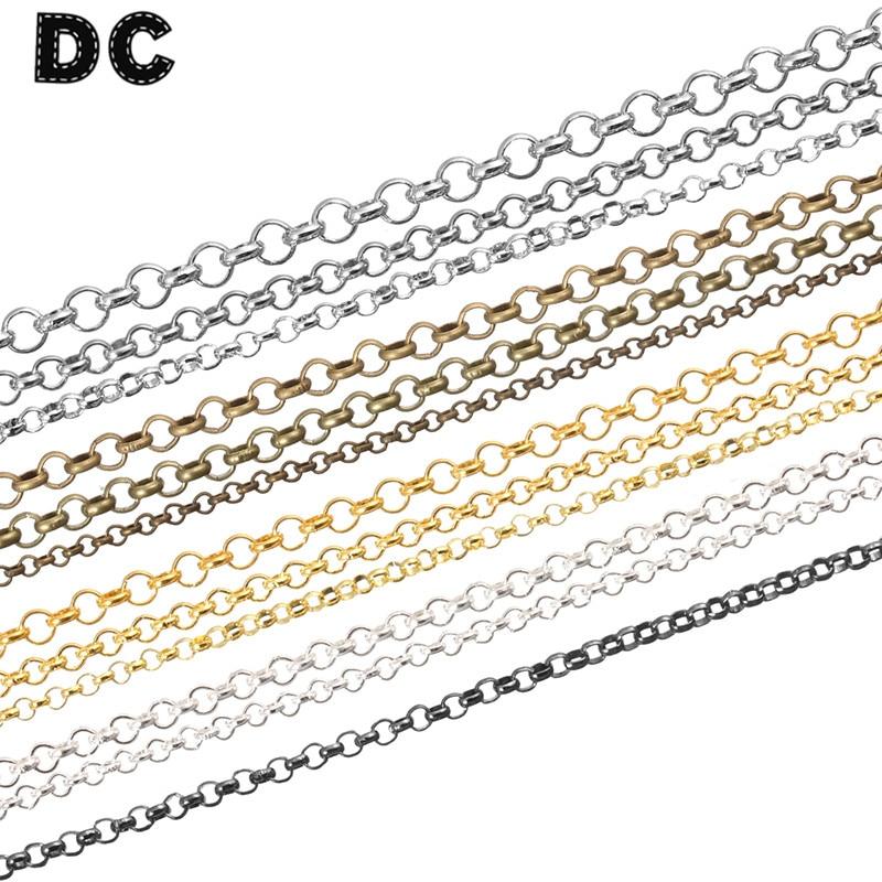DC 10 metros/lote Ancho 2/3/3.8mm cuerda a granel bordillo Cable cadenas Rolo...