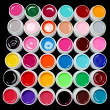 Professionnel 36 Pots couleur Pure décor UV Gel longue durée peinture Nail Art Gel vernis manucure outils de maquillage