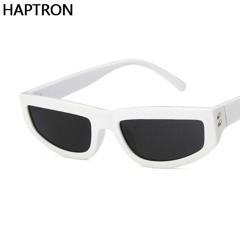 2018 Retro Cat Eye Sunglasses Women White Frame Sun Glasses For Men Brand Designer Vintage Eyewear F