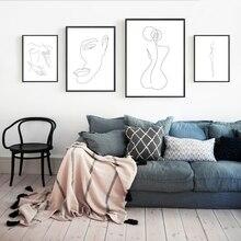 Affiches de toile à Figure féminine abstraite   Affiche de toile, imprimés, minimaliste, femme, peinture Fine et nue, images décor pour salle de maison