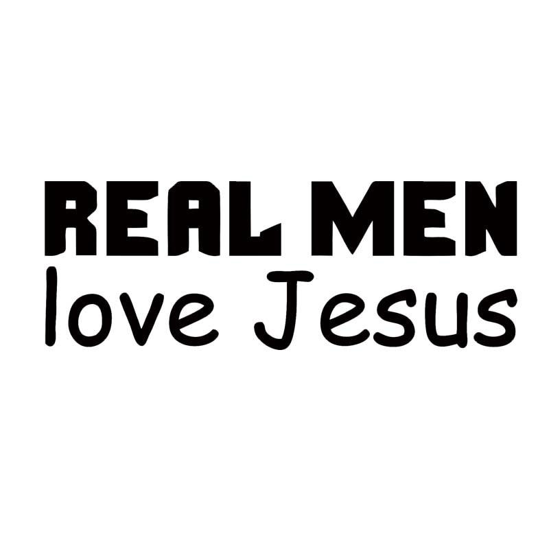 Para Hombres Reales amor Jesús coche pegatina vinilo pegatina coche religioso símbolo impermeable ventana Jdm