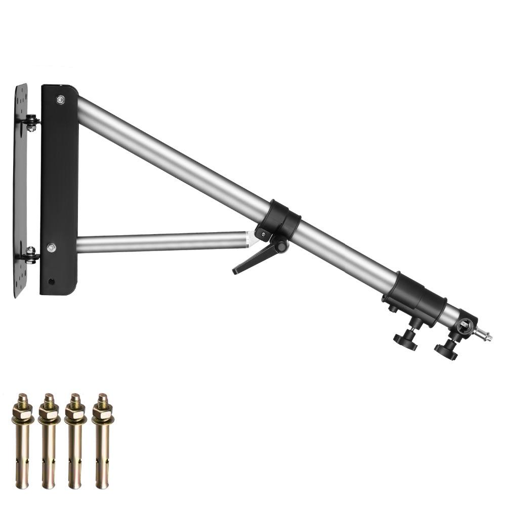 Neewer настенный кронштейн стрела с треугольным основанием для фотостудии видео стробоскоп светильник моно светильник зонт для софтбокса отр...