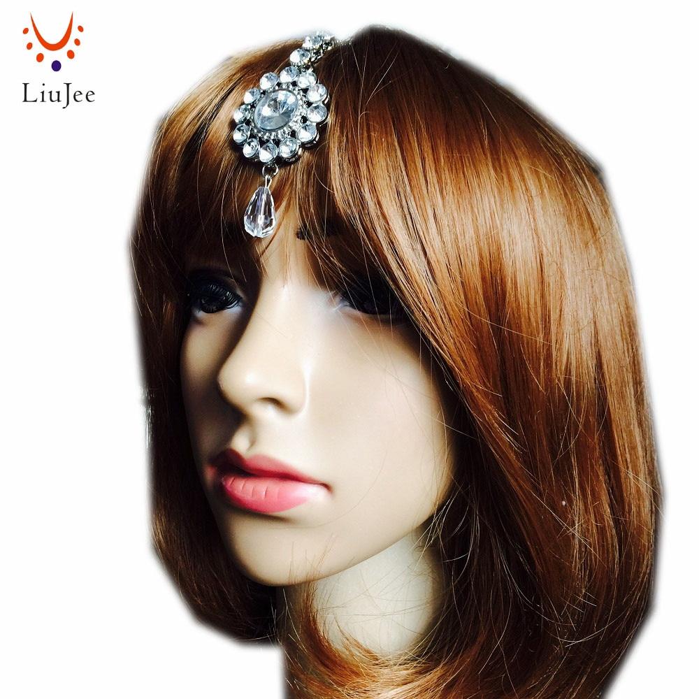 Волосы Bindi Tikka, цепочка украшение на лоб, боковая часть, хиджаб, Jhumar, индийский головной убор KD014