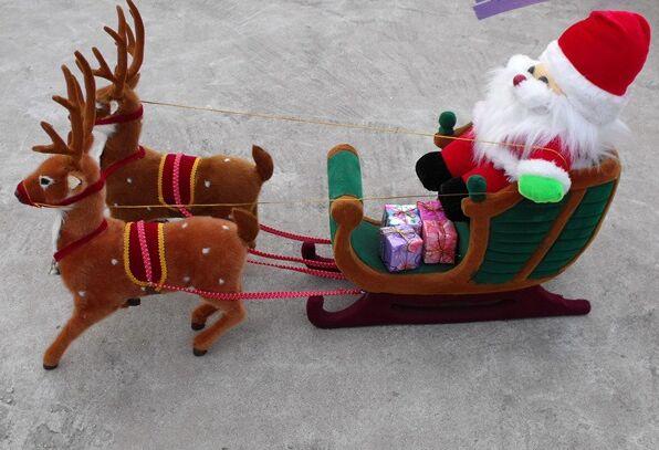 Adornos de Navidad ciervos de Navidad y maqueta de Santa Claus artesanal figuras inicio diseño decoración de Navidad a2635