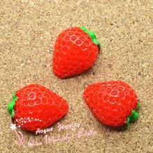 Cabochon de résine pierreries   Ornement de fruits plats, kawaii, 19*15mm, 20 pièces/lot