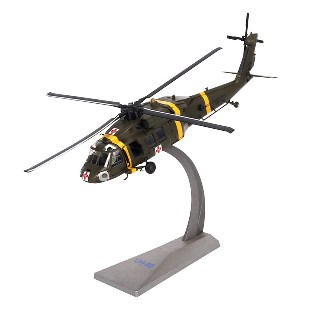 MagiDeal 1:72 Масштаб UH-60 Blackhawk вертолет Литой Сплав модель самолета