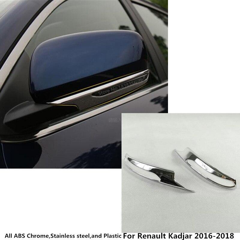 Para Renault Kadjar 2016 2017 2018 2019 cuerpo de coche ABS cromado retrovisor cubierta de espejo retrovisor lateral embellecedor de marco tipo tira cubierta de lámpara