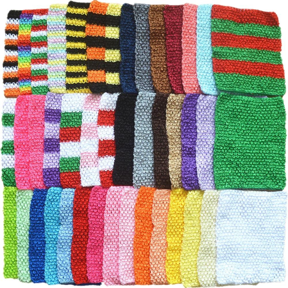 MangNa 20 unids/lote 9 pulgadas Crochet Tutu Top con diadema 20x23cm elástico envuelto pecho tejido chica Crochet diadema tutú Tube Tops ancho