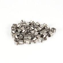 50 pièces Inserts filetés M6 1.0 1.5D acier inoxydable fil hélicoïoil attaches matériel réparation outils vis manchon ensemble