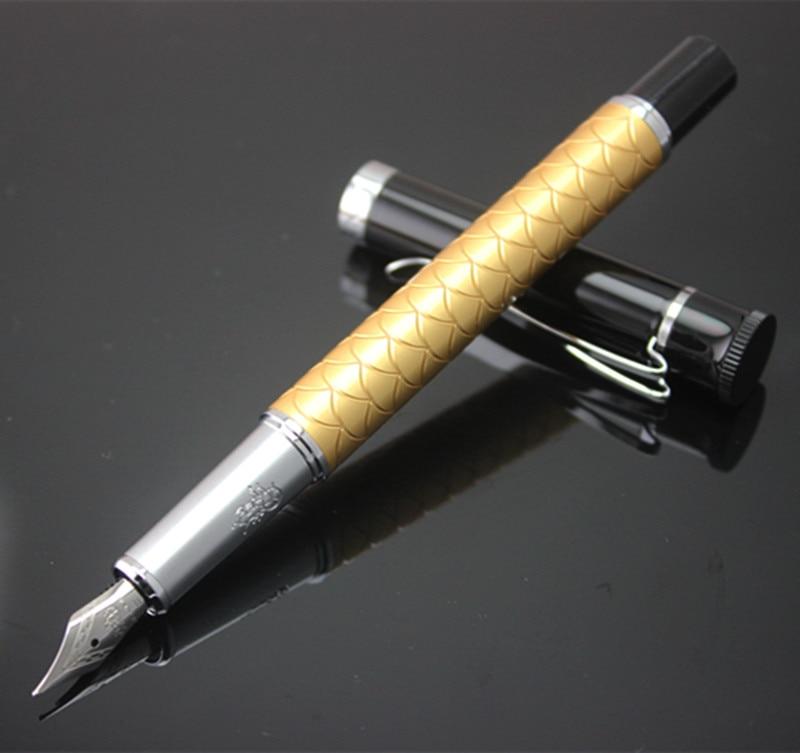 1 шт./лот JINHAO Y3 авторучка золотая ручка серебряный зажим китайский дракон весы гравировка брендовые роскошные ручки