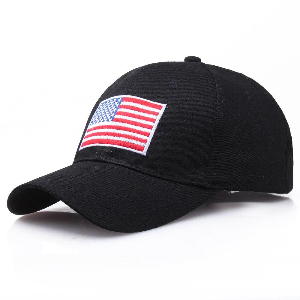 Бейсбольные кепки snapback с вышивкой американского флага, 100% хлопок, регулируемые кепки для пар в стиле хип-хоп, уличные шляпы для пап, 2019