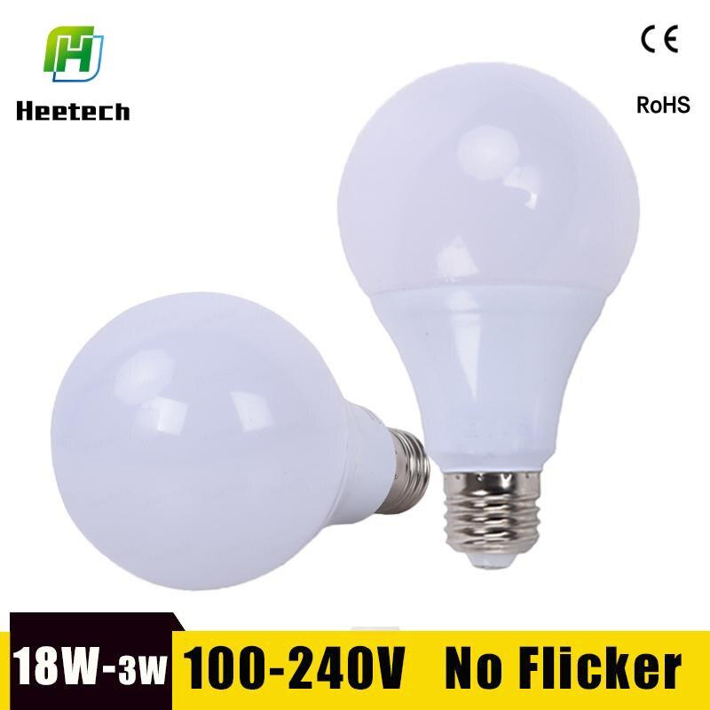 Led-lampe E27 LED Lampe 18 W 15 W 12 W 9 W 7 W 5 W 3 W Lampara led Bombillas 220 V 110 V Für Innen Beleuchtung Kalt/Warm Weiß Led Licht Lampe