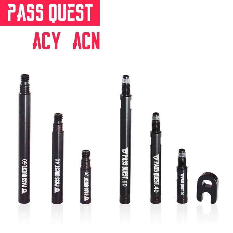 PASS QUEST Straße fahrrad räder 20mm 40mm 60mm Französisch ventil Abnehmbare extender Presta Ventil Reifen Extender kappe Core Adapter